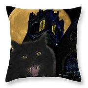 One Dark Halloween Night Throw Pillow by Shane Bechler