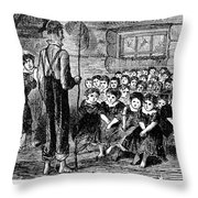 One-room Schoolhouse, 1883 Throw Pillow by Granger