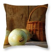 Onions On The Counter Throw Pillow by Sandra Cunningham