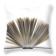 Open Book Throw Pillow by Frank Tschakert