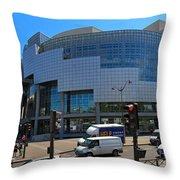 Opera de Paris Bastille Throw Pillow by Louise Heusinkveld