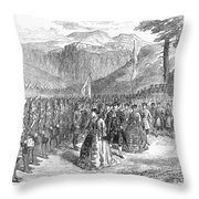 OPERA: GRAND DUCHESS, 1867 Throw Pillow by Granger