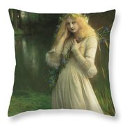 Ophelia Throw Pillow by Pascal Adolphe Jean Dagnan Bouveret