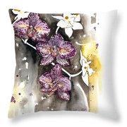 Orchid 13 Elena Yakubovich Throw Pillow by Elena Yakubovich