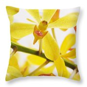 Orchid Throw Pillow by Atiketta Sangasaeng