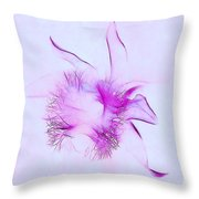 Orchid Impression Throw Pillow by Judi Bagwell