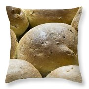Organic Bread Rolls Throw Pillow by Frank Tschakert