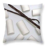Organic Marshmallows With Vanilla Throw Pillow by Joana Kruse