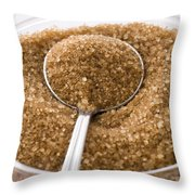 Organic Raw Cane Sugar Throw Pillow by Frank Tschakert