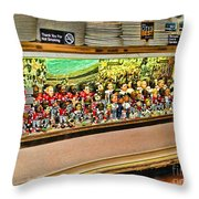 Osu Town Throw Pillow by Joan  Minchak