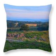 Overlook Of The Gettysburg Battlefield Throw Pillow by Dave Sandt