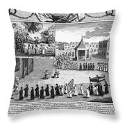 Oxford Martyrs, 1556 Throw Pillow by Granger