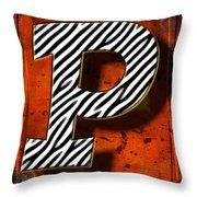 P Throw Pillow by Mauro Celotti