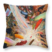 Paint Number 39 Throw Pillow by James W Johnson