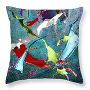 Paint Splashes Throw Pillow by Svetlana Sewell