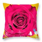 Painting Of Single Rose Throw Pillow by Setsiri Silapasuwanchai