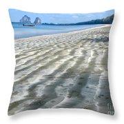 Pak Meng Beach Throw Pillow by Adrian Evans
