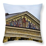 Palace Of Art - Heros Square - Budapest Throw Pillow by Jon Berghoff