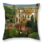 Palace Of The Arabian King - Ronda Throw Pillow by Juergen Weiss