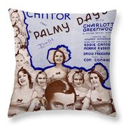 Palmy Days Throw Pillow by Mel Thompson