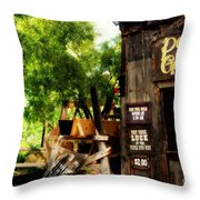 Pan For Gold In Old Tuscon Arizona Throw Pillow by Susanne Van Hulst