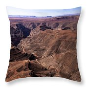 Panormaic View of Canyonland Throw Pillow by Robert Bales