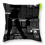 Paper Dance 2 Throw Pillow by Naxart Studio