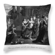Parable Of Virgins Throw Pillow by Granger