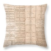 Parade For The Us Constitution Throw Pillow by Photo Researchers