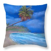 Paradise In Puerto Rico Throw Pillow by Arline Wagner