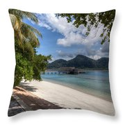 Paradise Island Throw Pillow by Adrian Evans