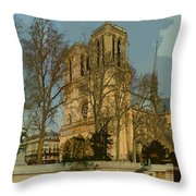 Paris 03 Throw Pillow by Yuriy  Shevchuk