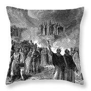 PARIS: BURNING OF HERETICS Throw Pillow by Granger