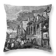 Paris: Street, 1830s Throw Pillow by Granger