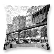 Paris: Tramway, 1880s Throw Pillow by Granger