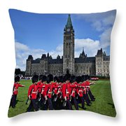 Parliament Building Ottawa Canada  Throw Pillow by Garry Gay