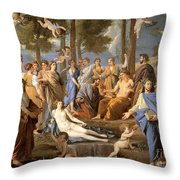 Parnassus, Apollo And The Muses, 1635 Throw Pillow by Photo Researchers