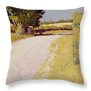 Path In The Country Throw Pillow by Charles Angrand