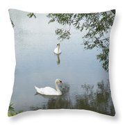 Peaceful Throw Pillow by Corinne Elizabeth Cowherd