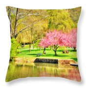 Peaceful Spring II Throw Pillow by Darren Fisher