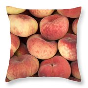 Peaches Throw Pillow by Jane Rix