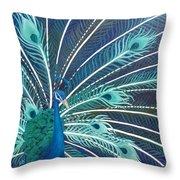 Peacock Throw Pillow by Estephy Sabin Figueroa