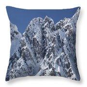 Peaks Of Takhinsha Mountains Throw Pillow by Matthias Breiter