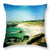 Pebble Beach Throw Pillow by Nina Prommer