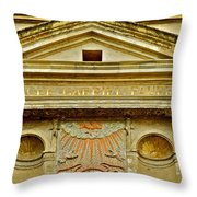 Pediment Of Oldest High School In France Throw Pillow by Kirsten Giving