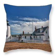 Pemaquid Point Lighthouse 4800 Throw Pillow by Guy Whiteley