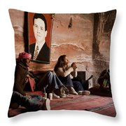 People Hide In A Cave Throw Pillow by Taylor S. Kennedy