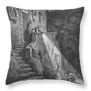 Perrault: Tom Thumb Throw Pillow by Granger