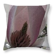 Petal Prose Throw Pillow by Tim Allen