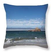 Pfeiffer Beach Throw Pillow by Ralf Kaiser